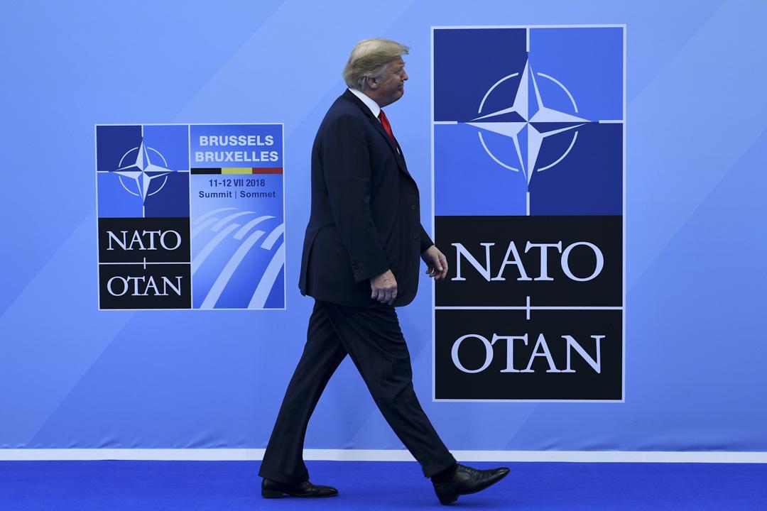 2018年7月11日,美國總統特朗普抵達布魯塞爾參加北約峰會。