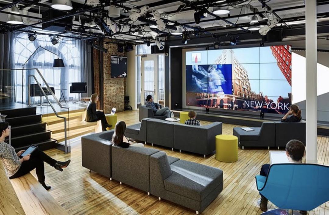 谷歌辦公室的公共空間。