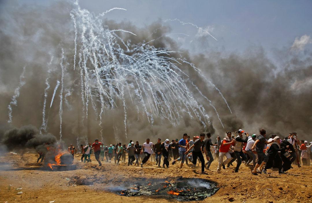 2018年5月14日,以色列和巴勒斯坦在加沙邊界附近發生衝突。