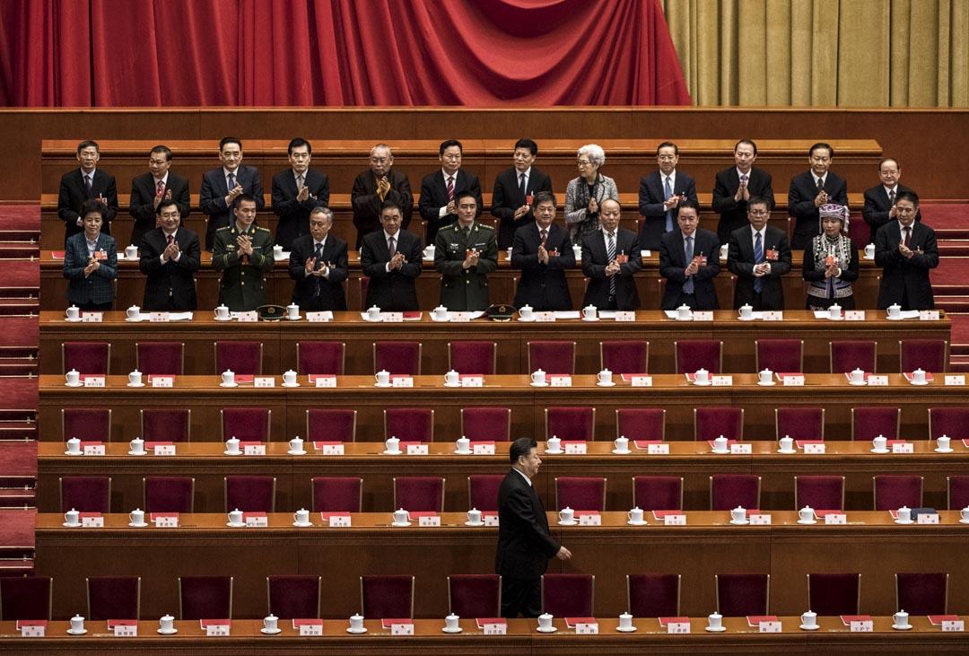2018年3月20日,國家主席習近平出席全國人民代表大會閉幕式。
