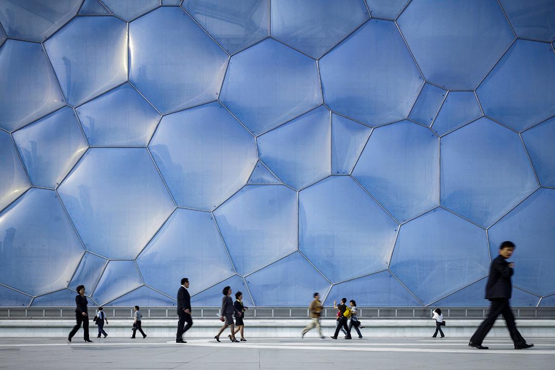 中國北京水立方。