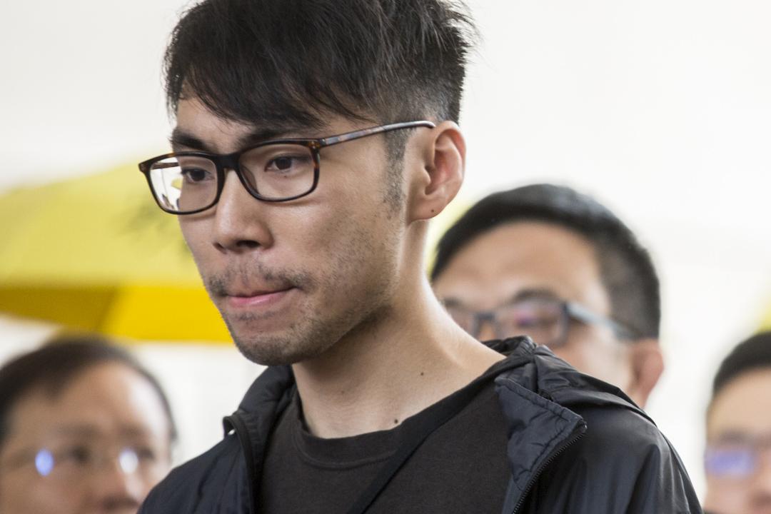2019年4月9日,佔中九子案宣判,第七被告鍾耀華到達法庭。 攝:林振東/端傳媒