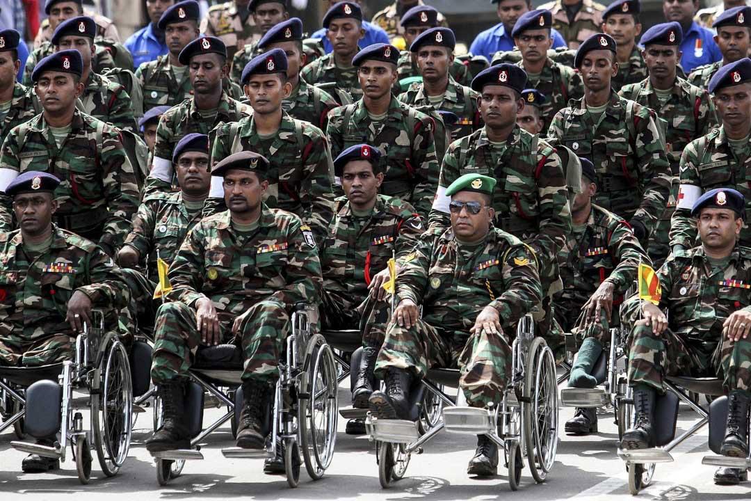 2015年5月19日,斯里蘭卡舉行「紀念日」大閲兵,慶祝長達25年的內戰結束6週年。