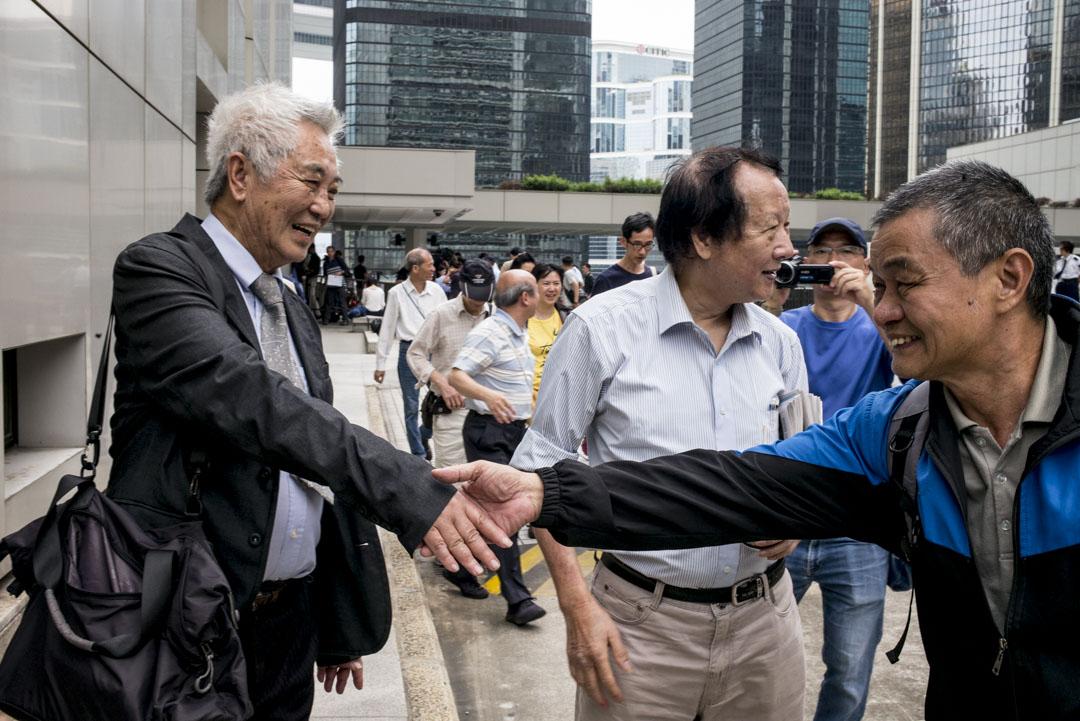 2019年4月8日,丁權覆核案頒下判詞,裁定郭卓堅部份理據勝訴。 攝:林振東/端傳媒