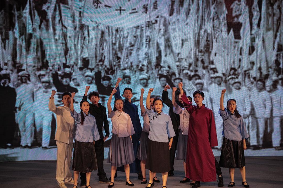 2019年4月30日,為紀念「五四運動」100週年,西湖區舉行「青春建功在西湖?砥礪奮進爭一流」的活動。 圖:IC photo