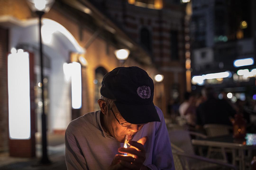 2019年4月26日,林榮基在台北西門紅樓。
