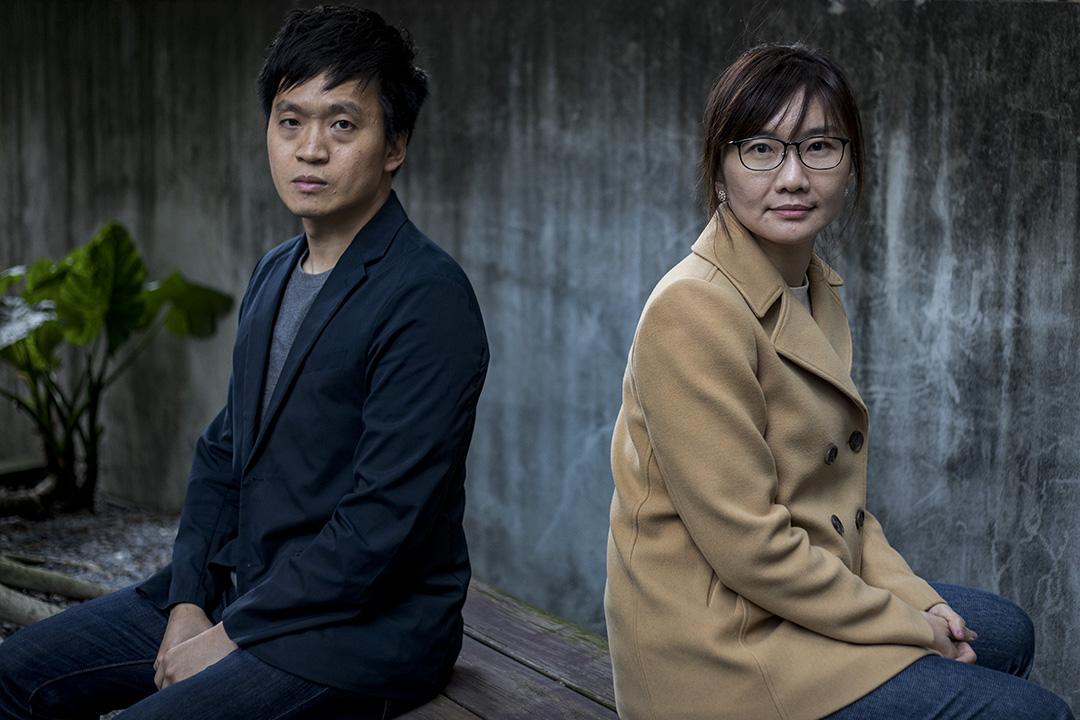 中央研究院法律研究所博士後研究員陳玉潔(右)和清華大學科技法律研究所副教授林勤富(左)。