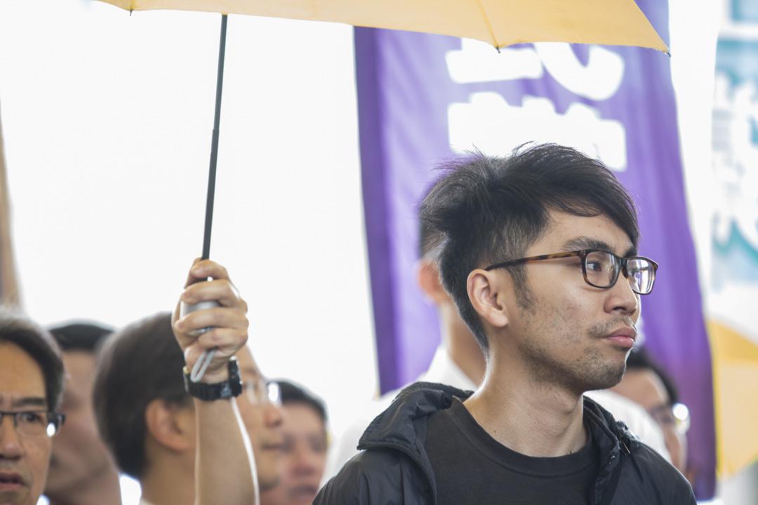 2019年4月10日,佔中九子案判決,鍾耀華到達法院。
