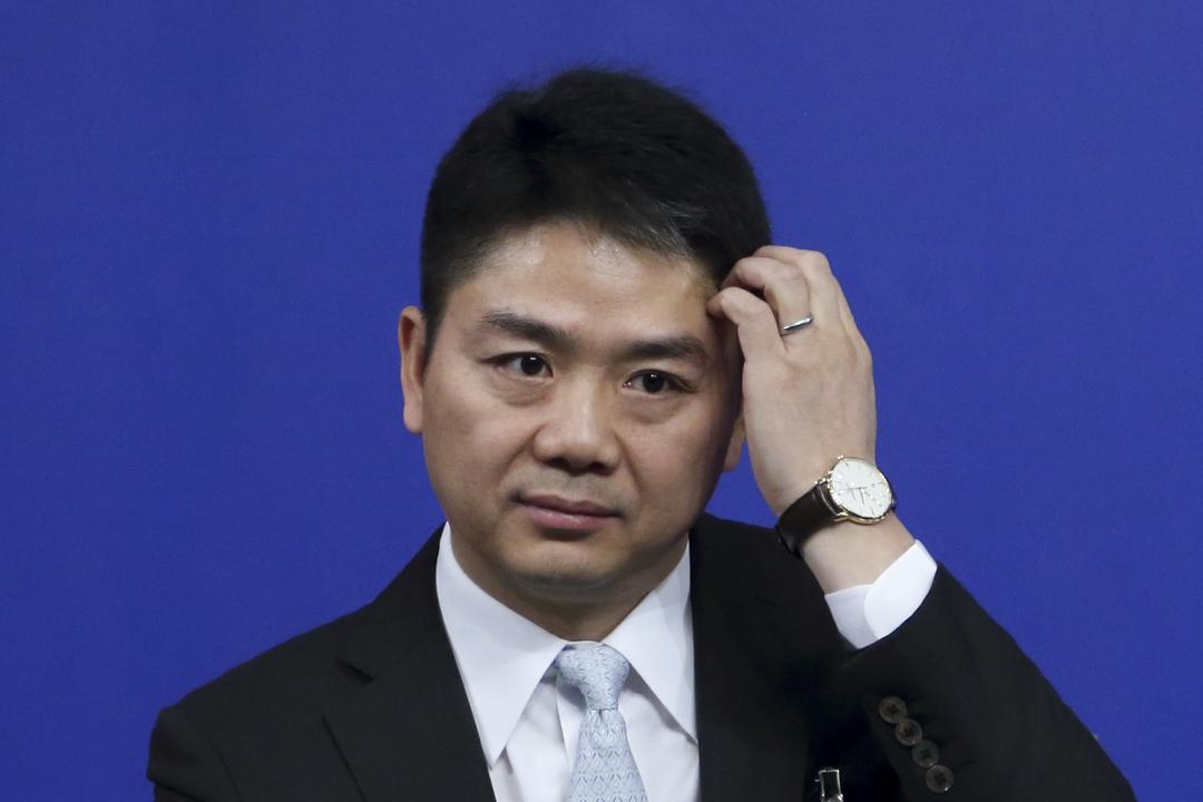 2018年3月10日,劉強東出席政協記者會。 圖:IC photo