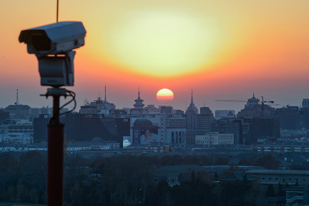 2013年12月5日,北京的一台閉路電視。