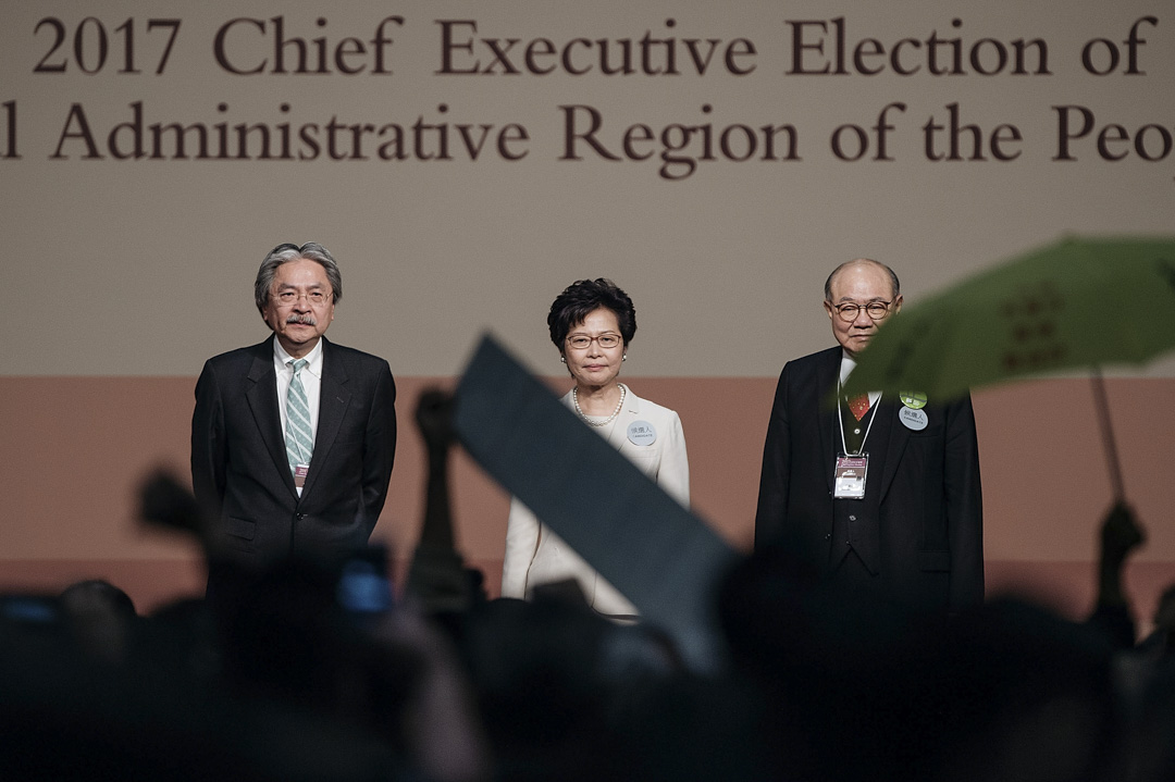 2017年3月26日,林鄭月娥當選香港特首。