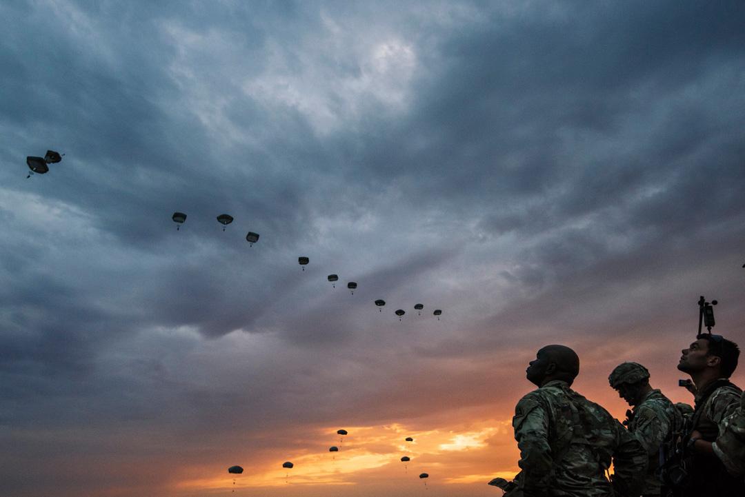 2017年7月18日,美國陸軍參與北約聯合空中軍事演習。