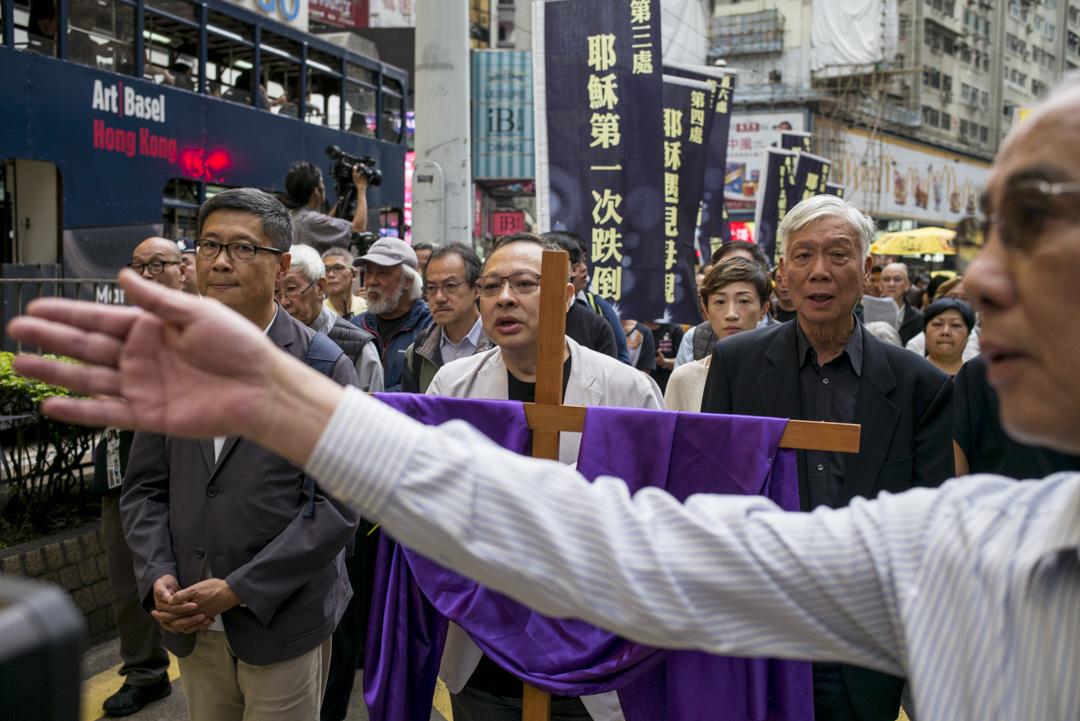 2019年3月30日,香港天主教正義和平委員會發起的「傘下同行、民主苦路」遊行,由「佔中三子」戴耀廷、朱耀明及陳健民帶領隊伍由銅鑼灣遊行至金鐘政府總部。