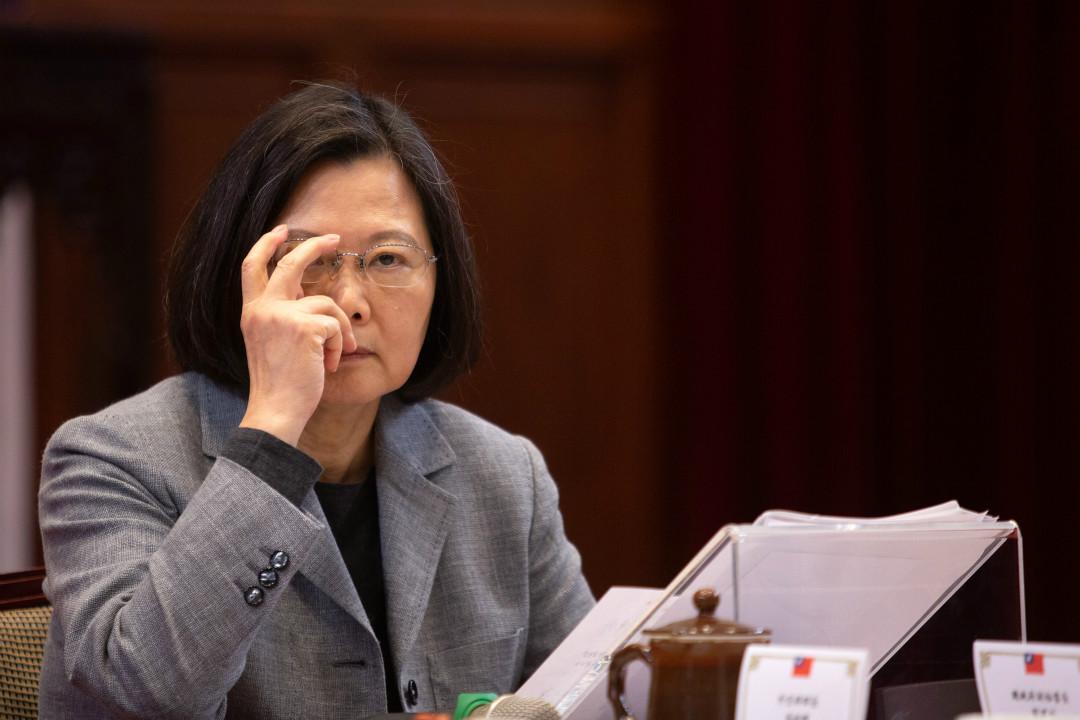 2019年1月5日,台灣總統蔡英文舉行新聞發布會。 攝:Getty Images