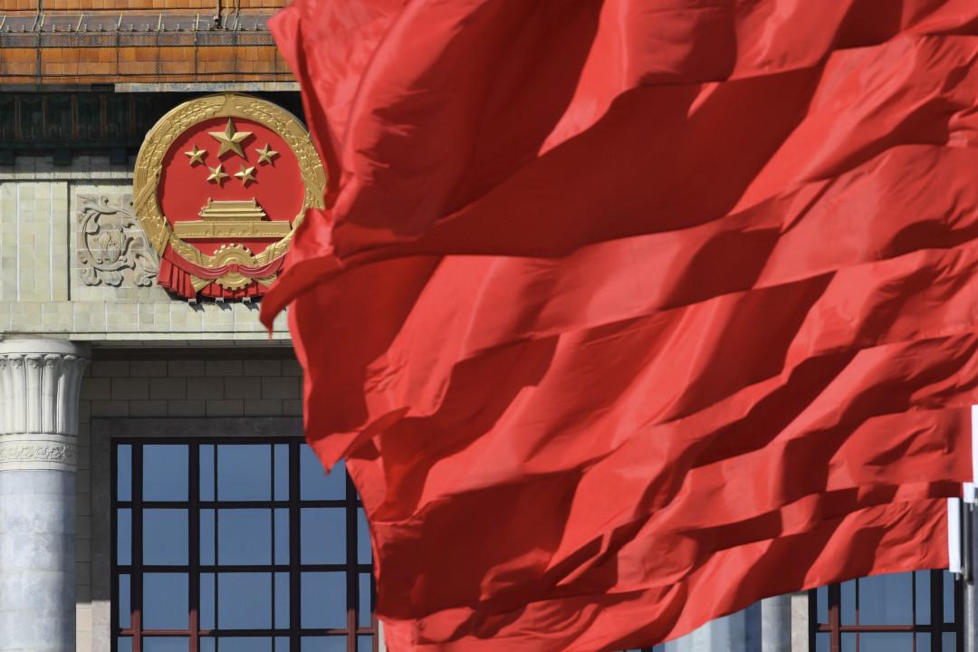 2019年3月13日,「兩會」期間的北京人民大會堂門口。 攝:VCG/Getty Images
