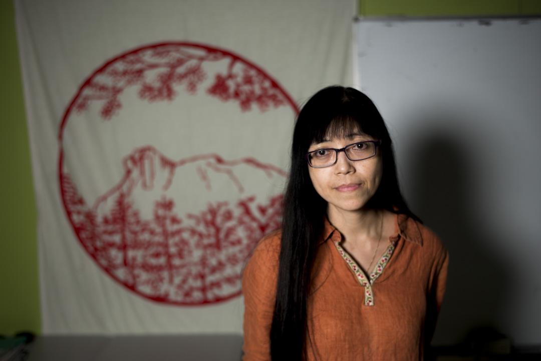 香港社會工作者總工會總幹事許麗明。