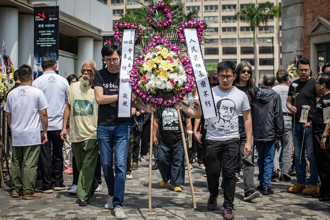 2019年4月5日,清明節,香港支聯會舉行活動悼念六四死難者。