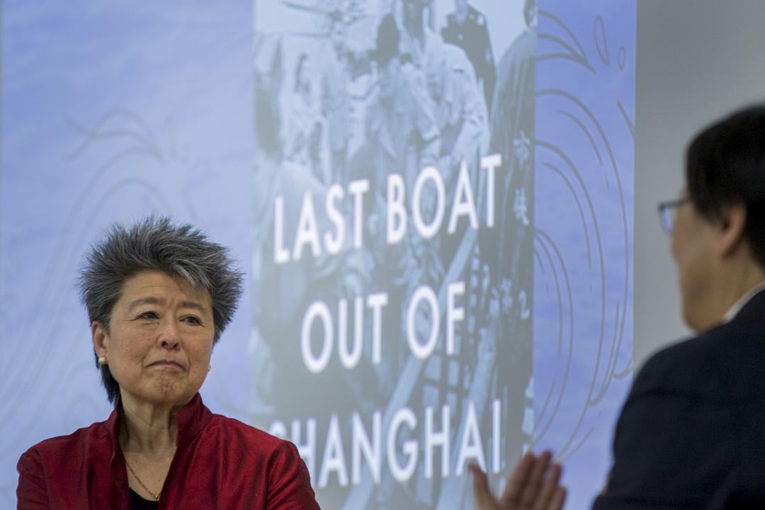 2019年3月28日,謝漢蘭於港大出席新書講座。
