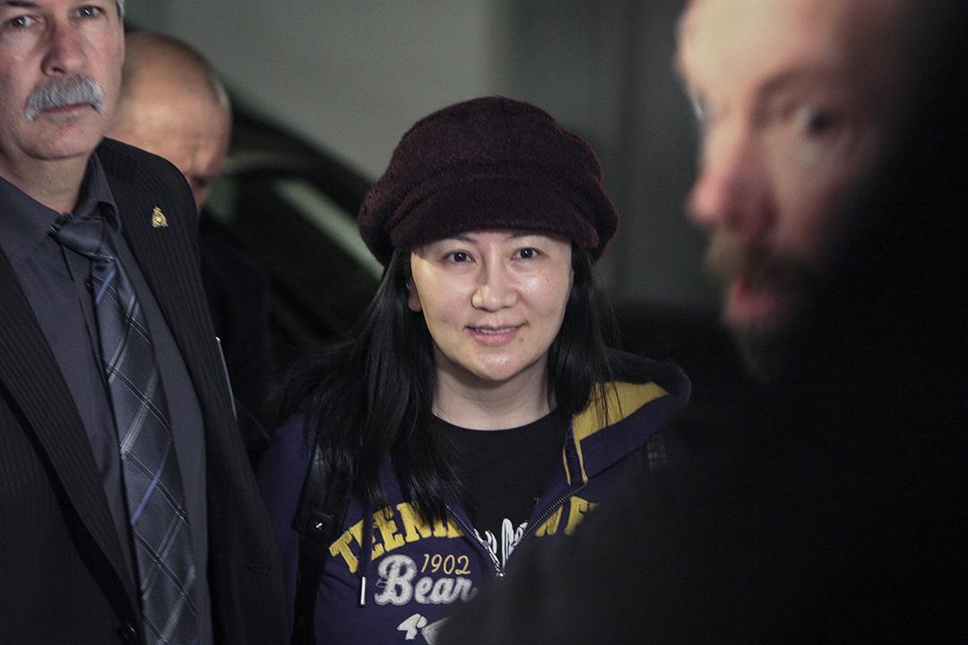 2019年3月6日上午,孟晚舟在温哥華的卑詩省最高法庭再次出庭。圖為孟晚舟抵達法院。