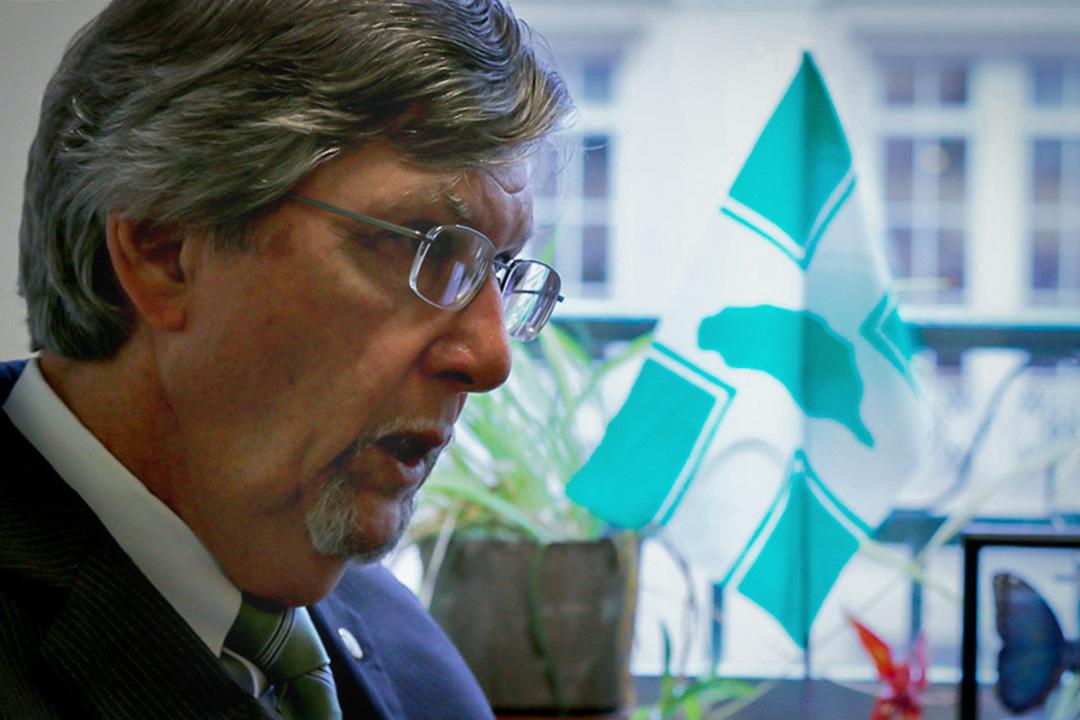 民進黨駐美代表處主任的彭光理(Michael Fonte)。