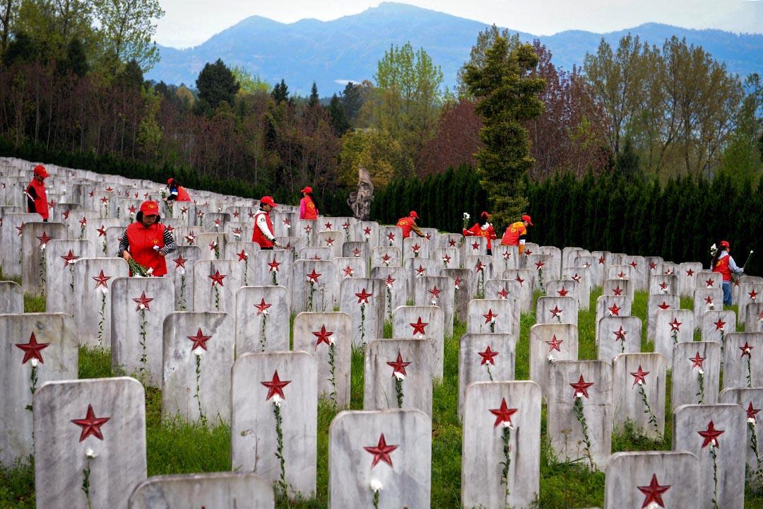 2019年4月5日,四川省巴中市川陝革命根據地紅軍烈士陵園。