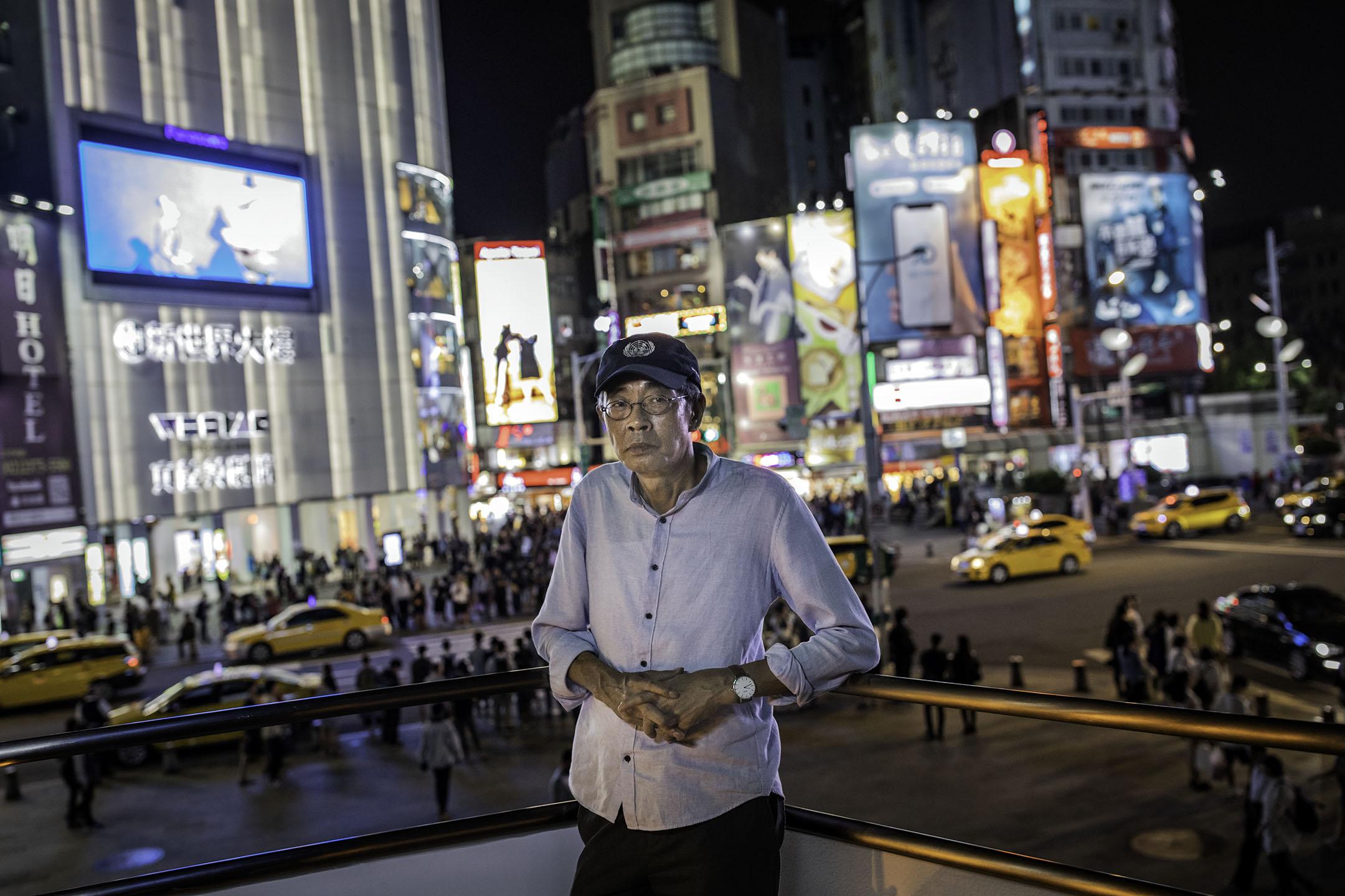 2019年4月26日,林榮基在台北西門。 攝:陳焯煇/端傳媒