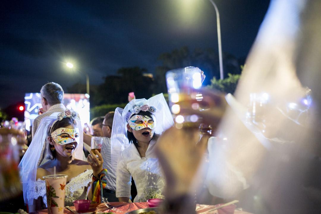 2019年5月25日,台灣伴侶權益推動聯盟在總統府前凱達格蘭大道舉辦「2019凱道同婚宴」,總計超過一百席,有超過1600人蔘與,場面盛大,現場也有20對新人進行證婚儀式。