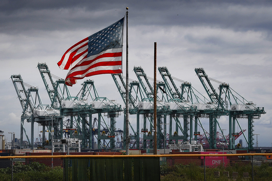 2019年3月4日,美國加利福尼亞州的貨櫃碼頭。
