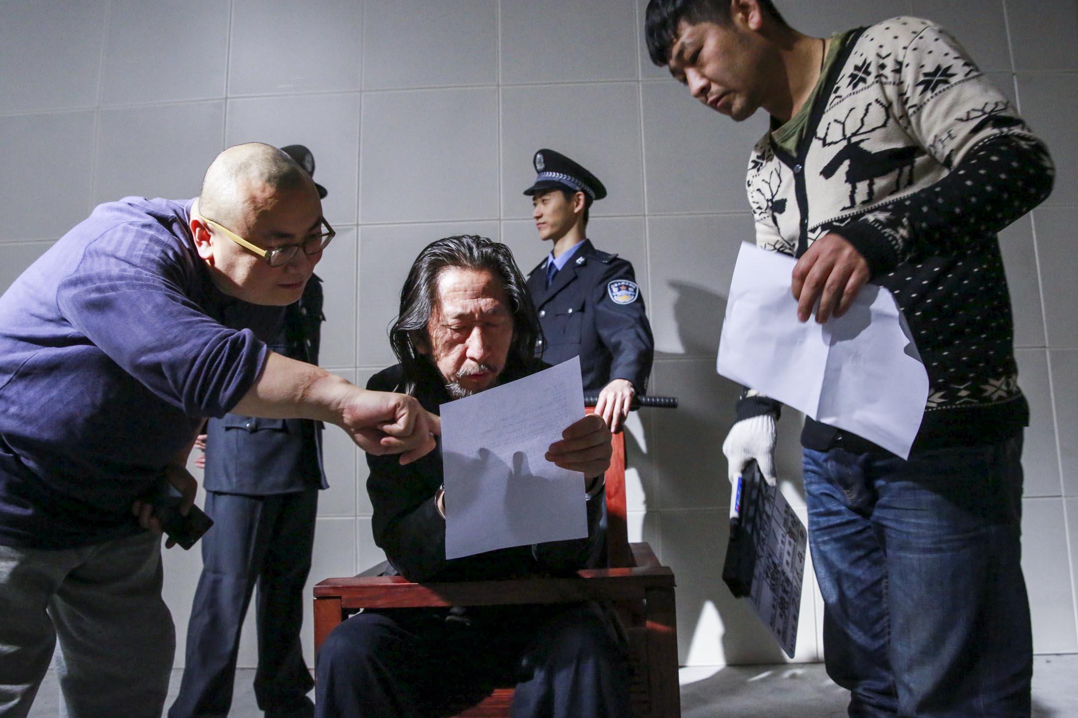 雎安奇在《失蹤的警察》拍攝現場。 圖:受訪者提供