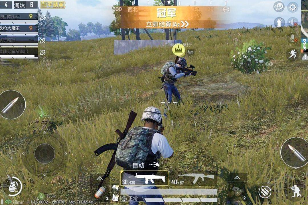 騰訊推出的手機遊戲《和平精英》。 圖:網上圖片