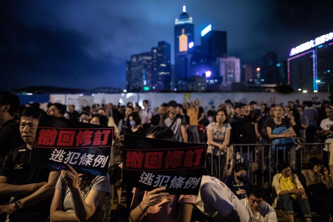 2019年4月28日,約13萬人響應民間人權陣線號召,參加撤回修訂《逃犯條例》遊行。 攝:Stanley Leung / 端傳媒