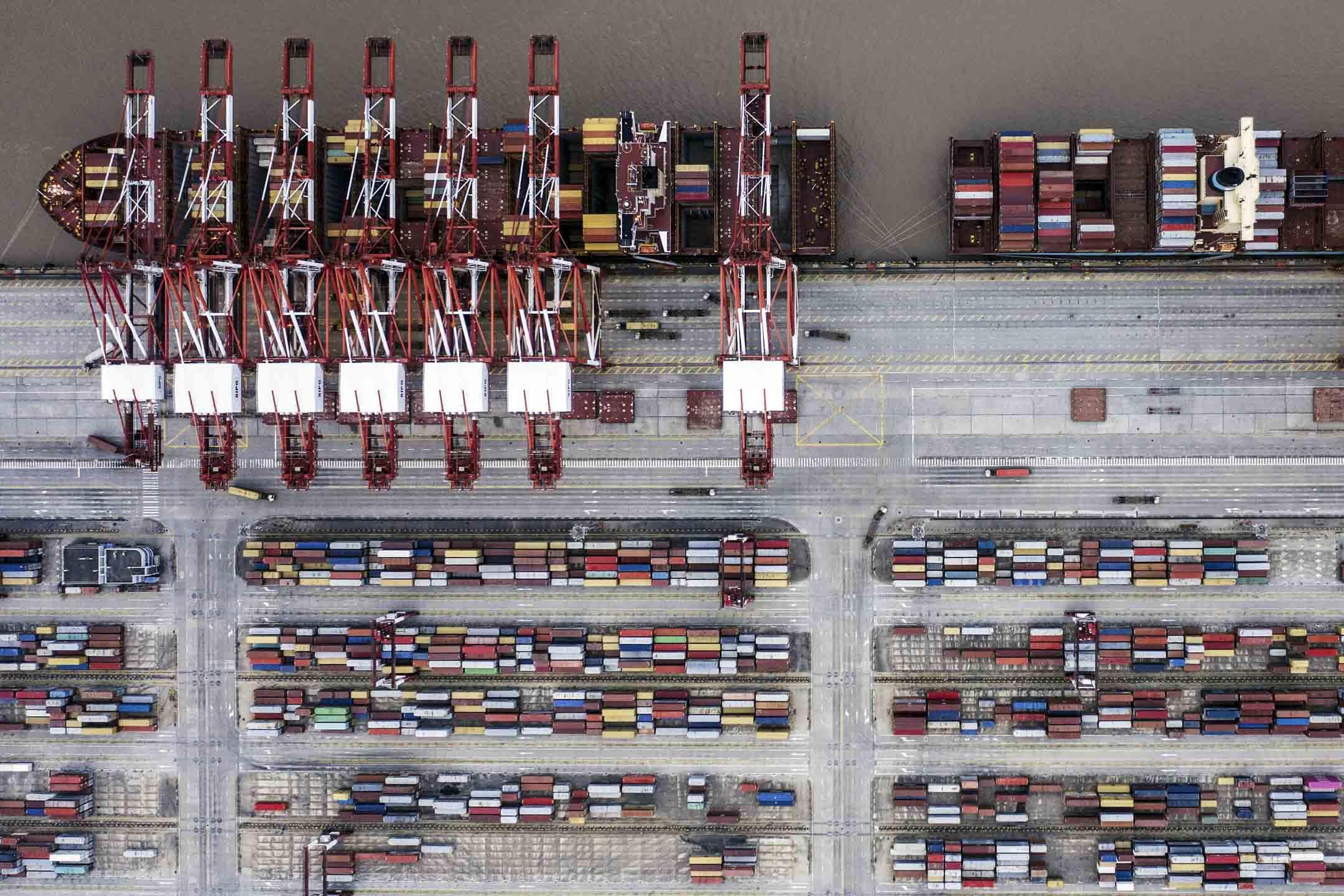 美國總統特朗普早前宣佈,將2000億美元的中國商品關稅從10%上調到25%,並不排除對其它商品也加徵關稅。 攝:Qilai Shen/Bloomberg via Getty Images