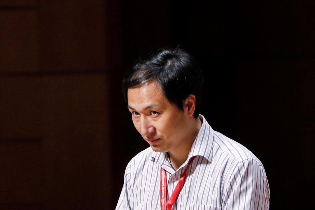 2018年11月28日,因「基因編輯嬰兒事件」而引起巨大爭議的南方科技大學副教授賀建奎現身第二屆人類基因組編輯國際峰會現場。 圖:IC photo