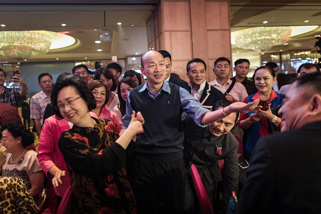 2019年4月22日,高雄市長韓國瑜出席瓊瑤主題餐會。