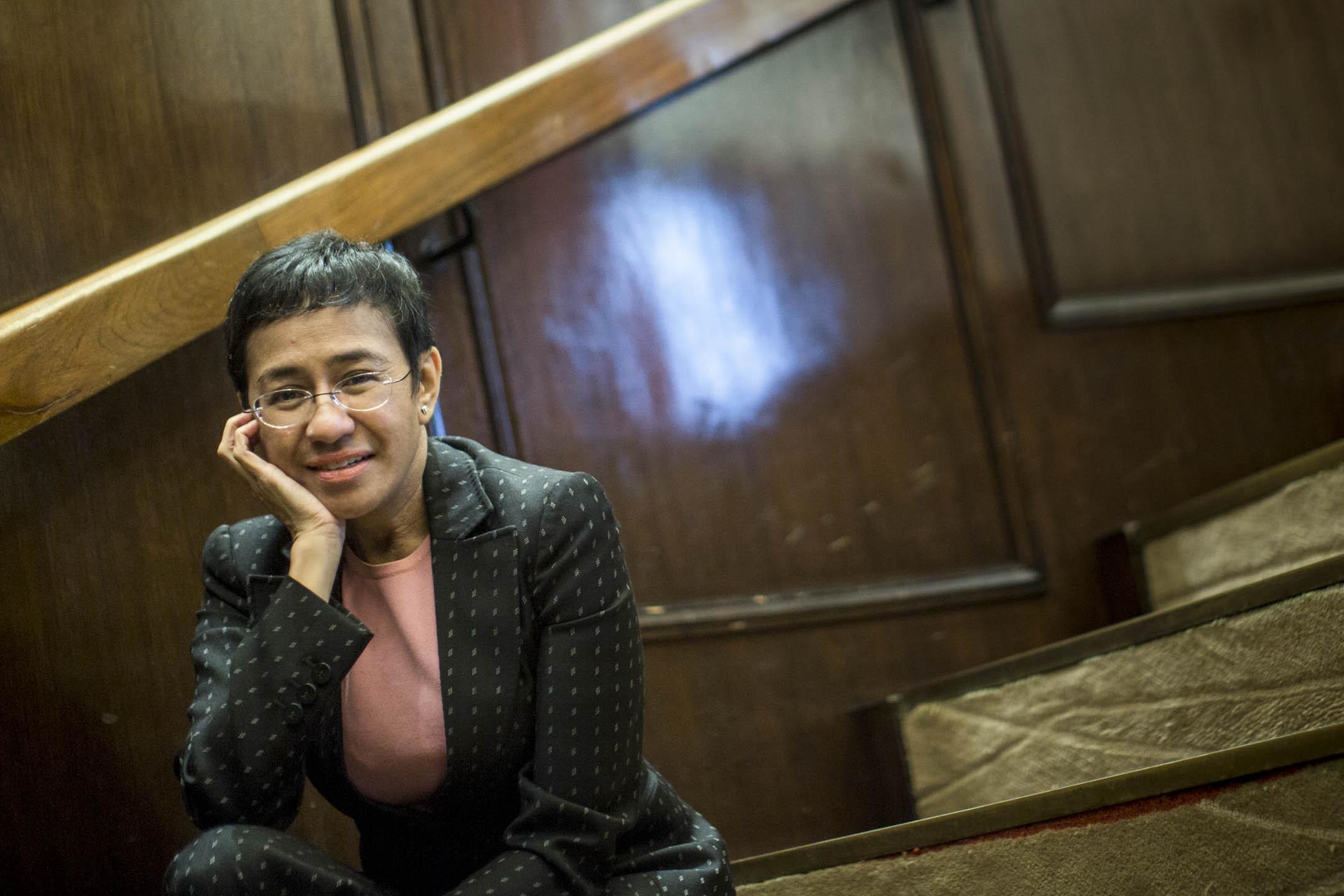 雷薩(Maria Ressa)早前獲選為《時代》雜誌2019年百大風雲人物之一,被嘉許為「真相守護者」,表揚她無懼政權打壓,揭露不義、紀錄真相的貢獻。 攝:林振東/端傳媒