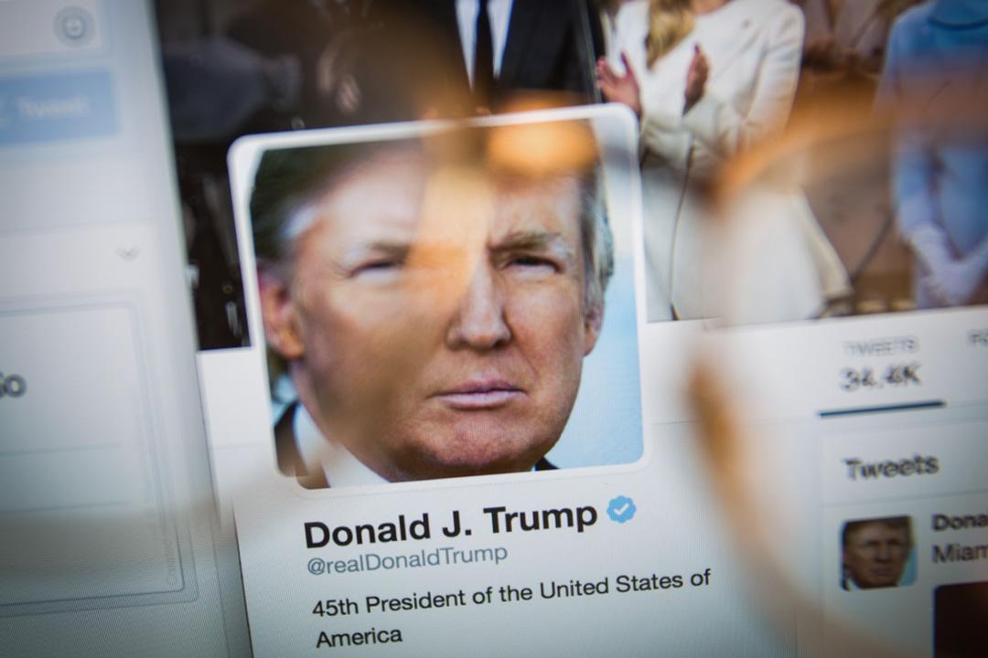 2017年5月27日,特朗普推特。  攝:Jaap Arriens/NurPhoto via Getty Images