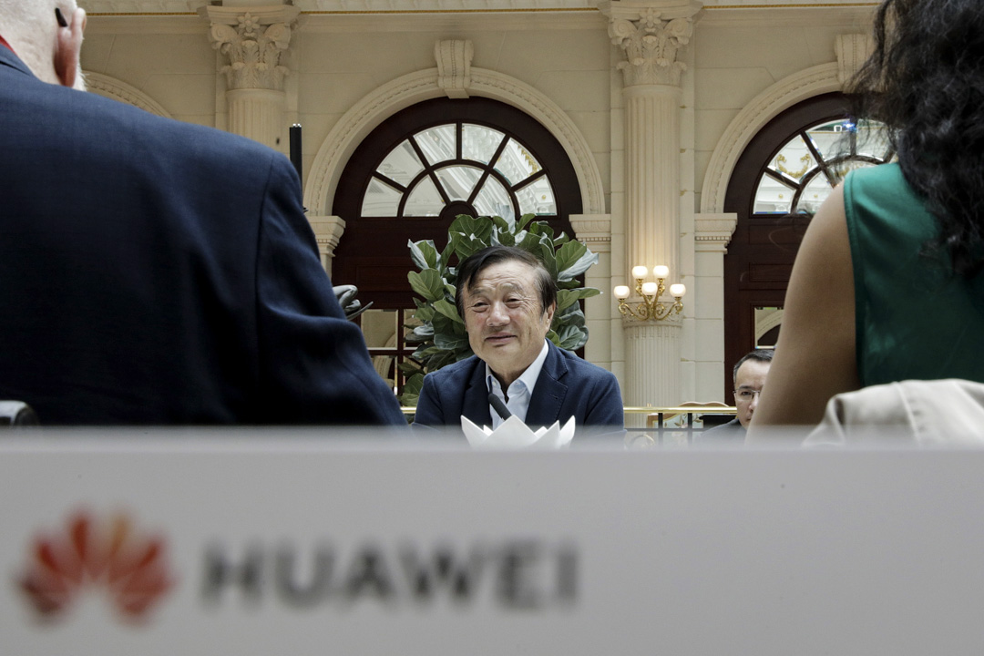 2019年1月15日,任正非於在深圳總部接受記者採訪。