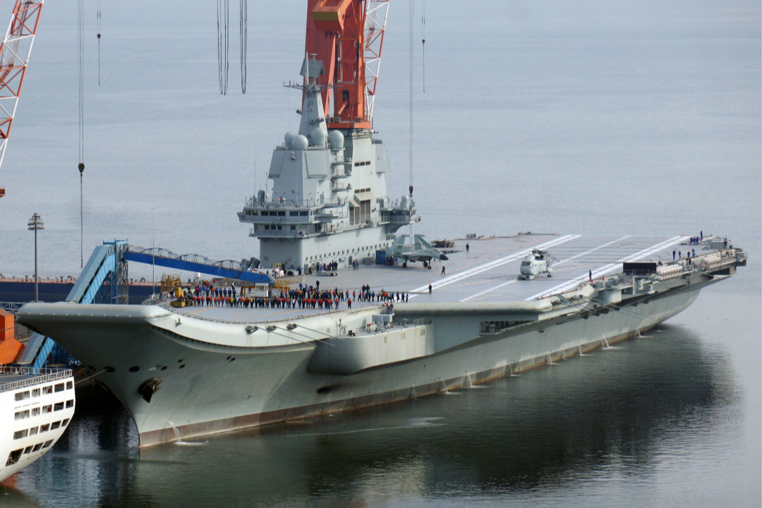 2019年2月27日,遼寧大連,中國國產航母上的「馬甲軍團」開展訓練。 攝:Imagine China