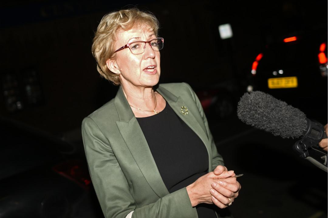 2019年5月22日,英國國會下議院保守黨領袖利雅華(Andrea Leadsom)宣布辭職。 攝:Peter Summers/Getty Images