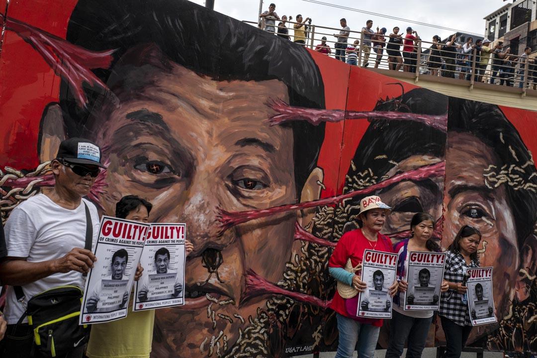 2018年9月21日,菲律賓馬尼拉有示威抗議總統杜特地獨裁統治,並紀念前總統馬可斯宣布的戒嚴46週年。