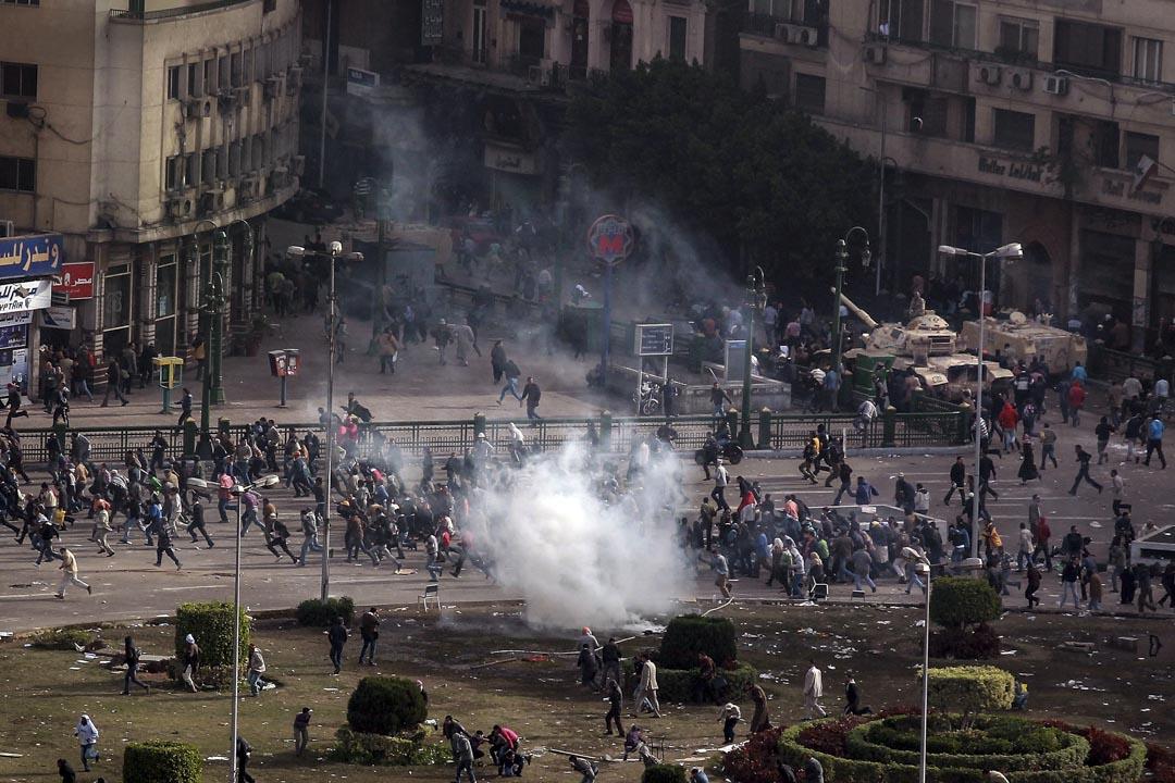2011年,埃及開羅爆發「1.25」革命,向政府表達不滿。