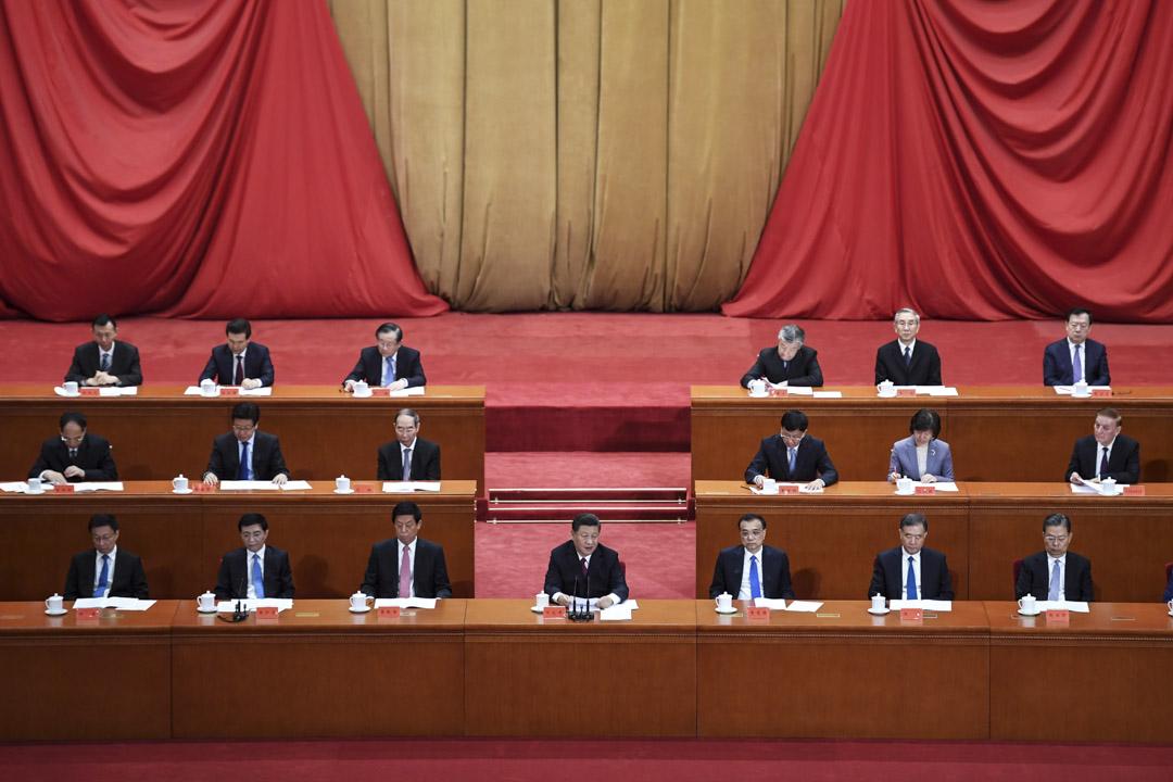 2019年4月30日,國家主席習近平在北京人民大會堂舉行的紀念五四運動百年慶典的儀式上發表講話,