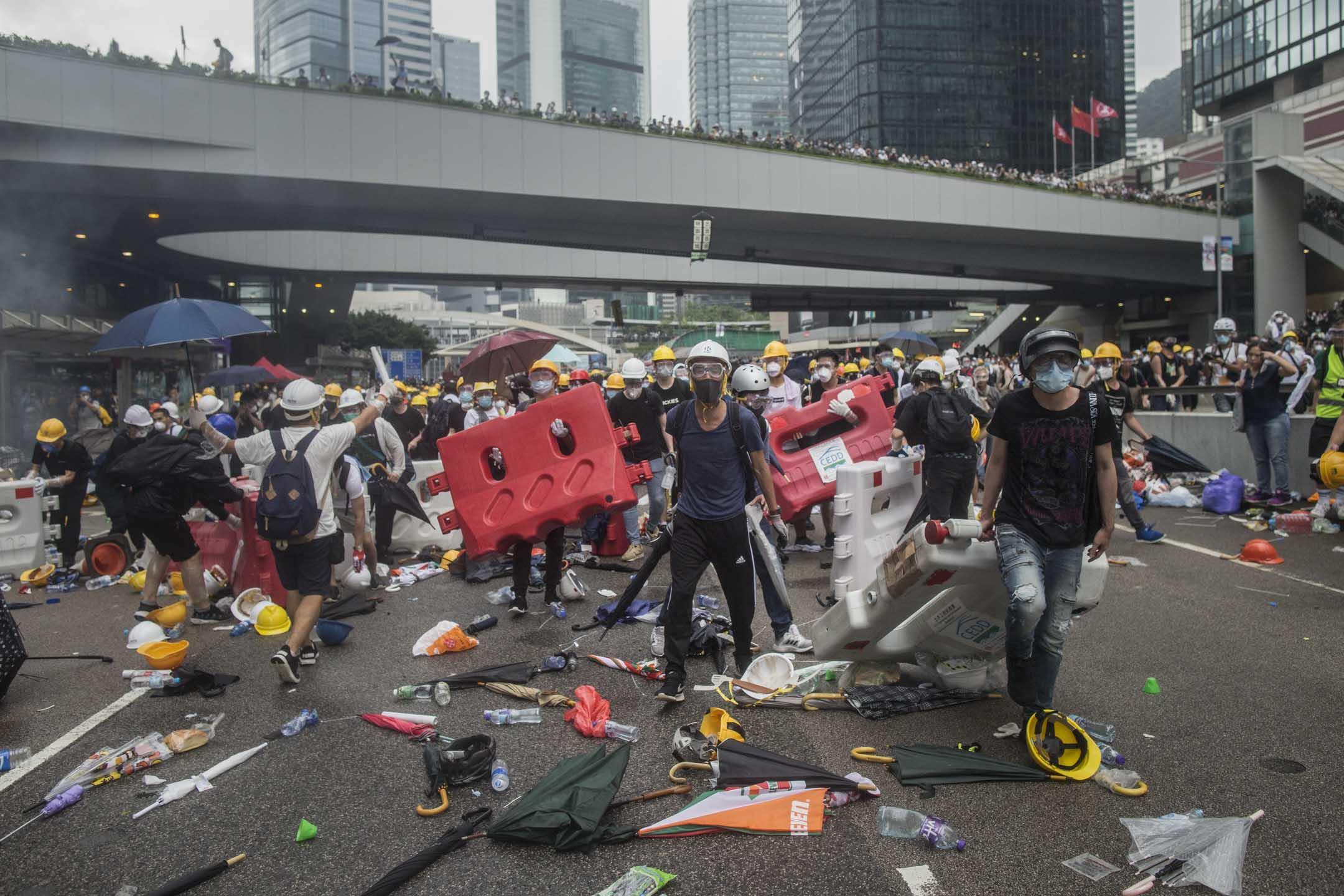 2019年,反修訂《逃犯條例》示威。 攝:林振東/端傳媒