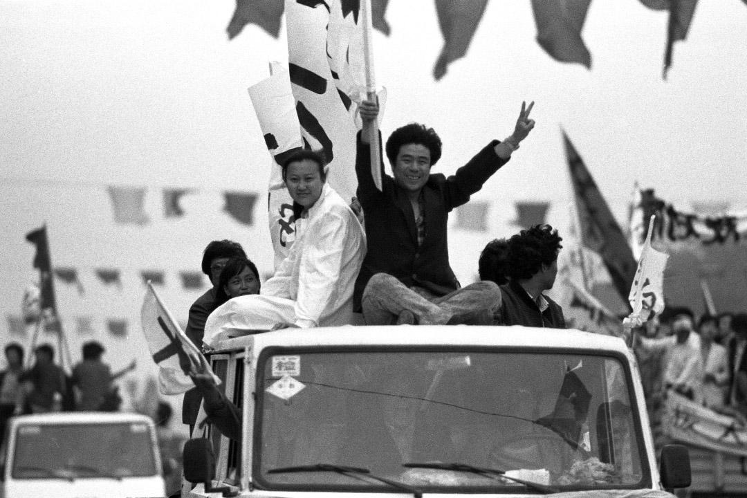 1989年5月17日,天安門廣場。