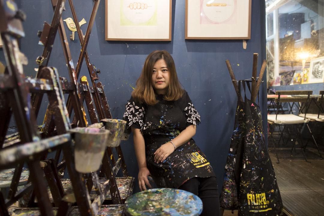 愛畫室Aura Art店主Amy 。