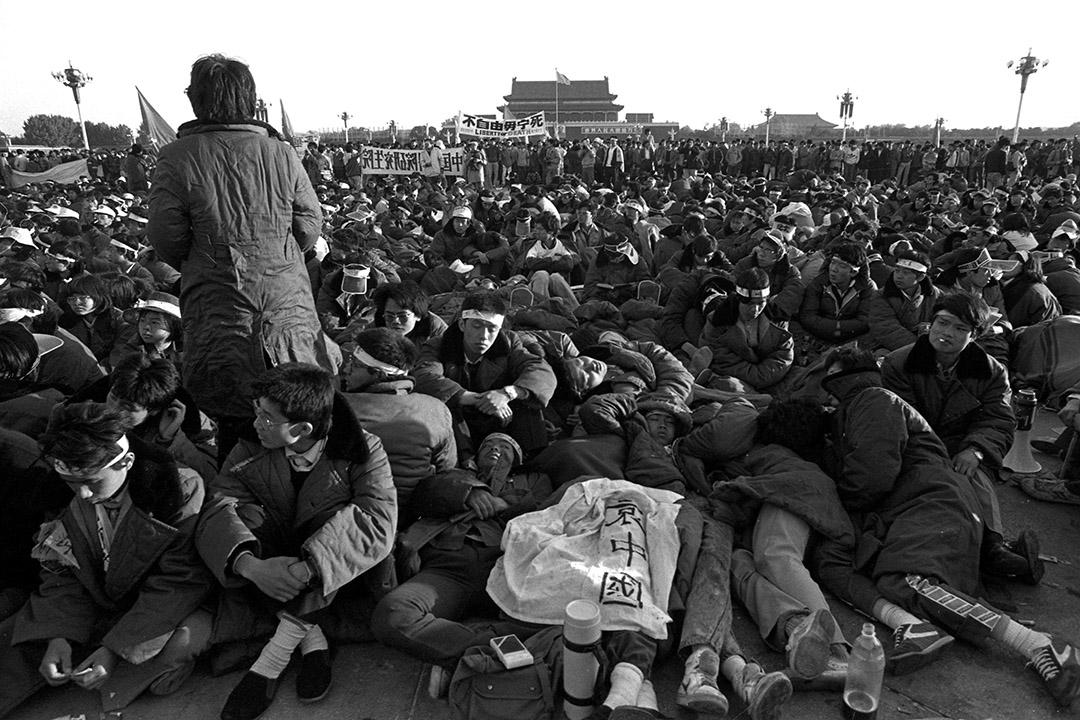 1989年5月14日,天安門廣場。