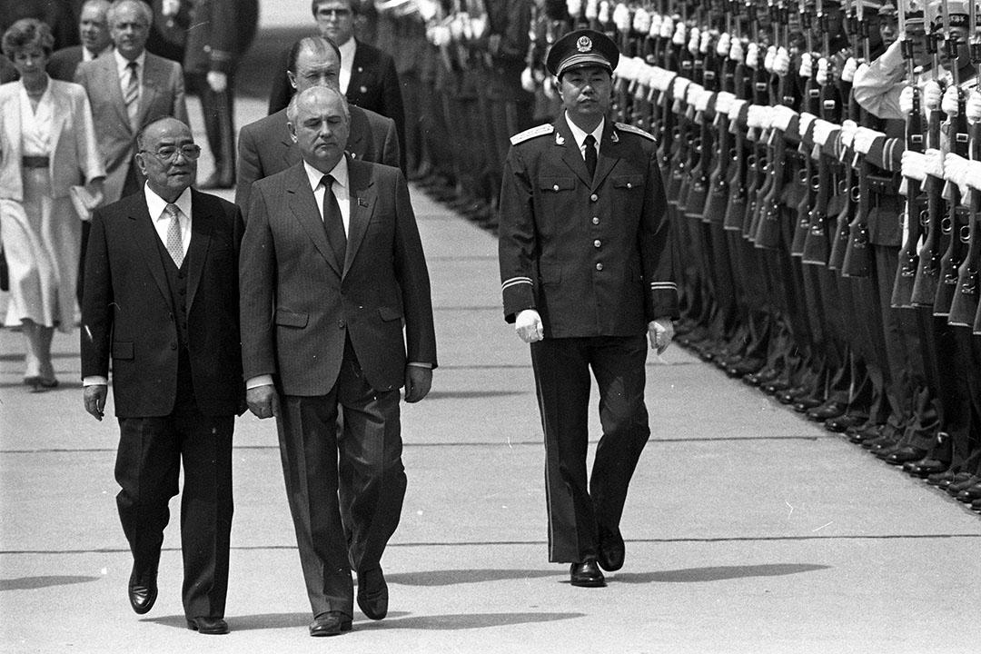 1989年5月15日,戈巴契夫訪問中國。