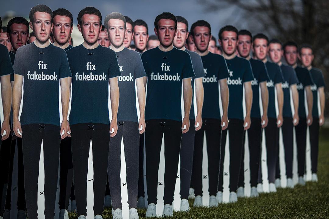 社群媒體龍頭臉書 (Facebook) 幾乎壟斷了社交軟體市場。 攝:Zach Gibson/Getty Images