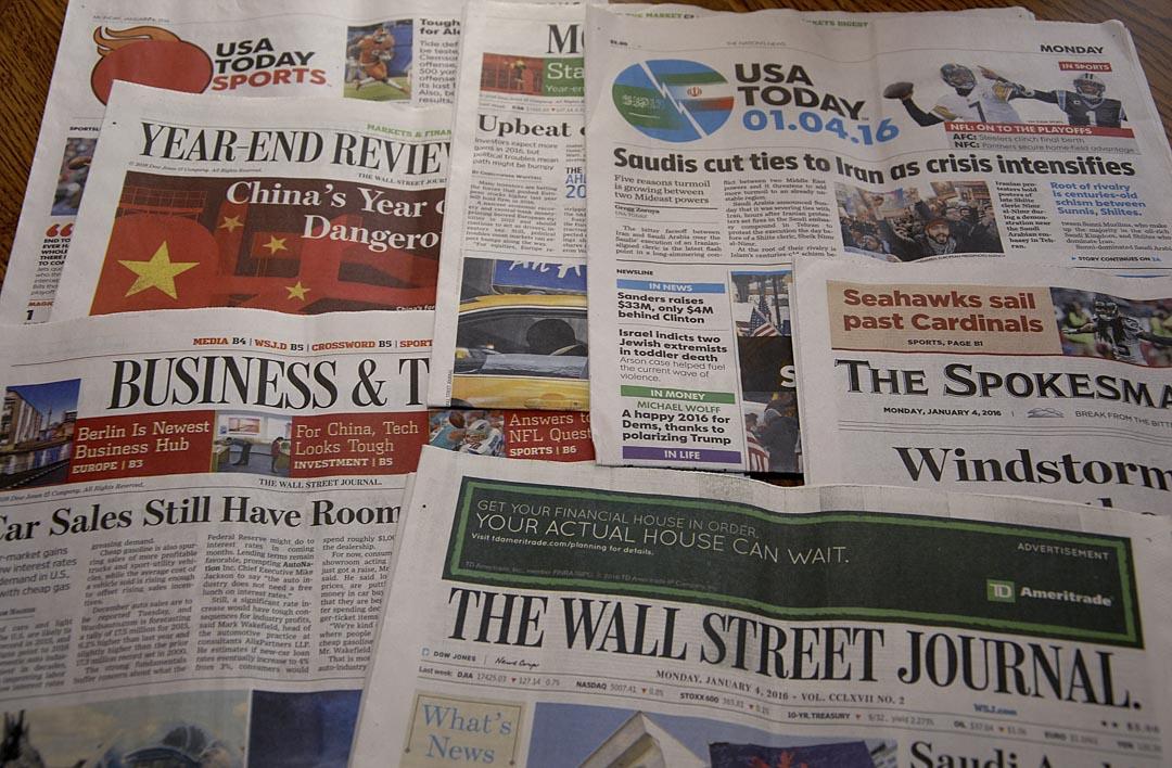 在美國發行量最大的全國性日報《今日美國》(USA Today)是以內容淺顯、實用和多樣化而著稱。