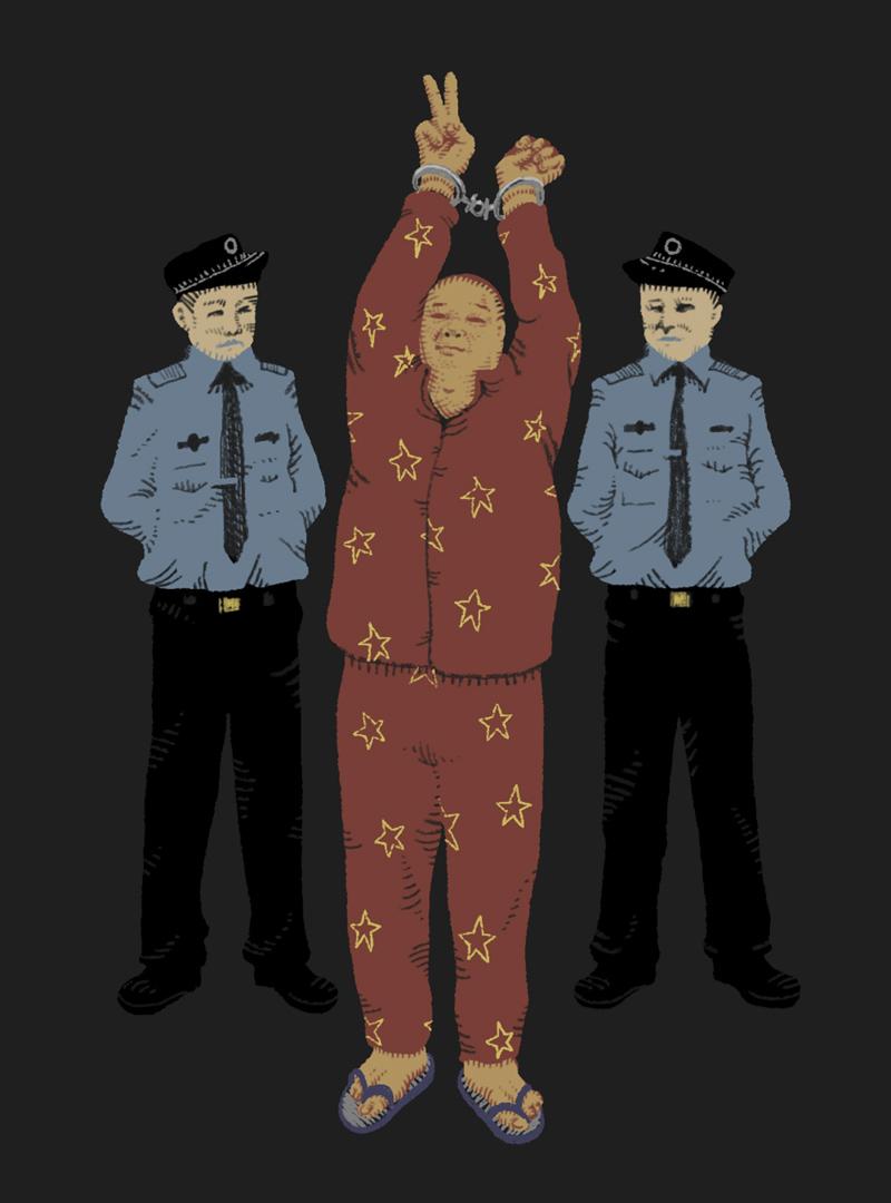 審訊當日,陳雲飛穿了一身灰白睡衣出席審訊,說是為了方便做「中國夢」,聽到刑期4年,還打出了一個勝利的手勢,理由是判刑太輕。